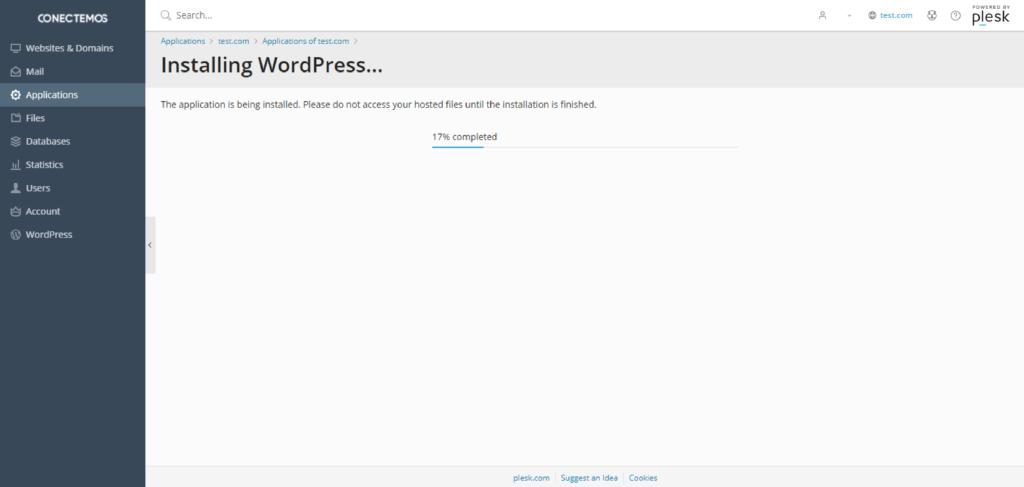Instalar WordPress en Plesk